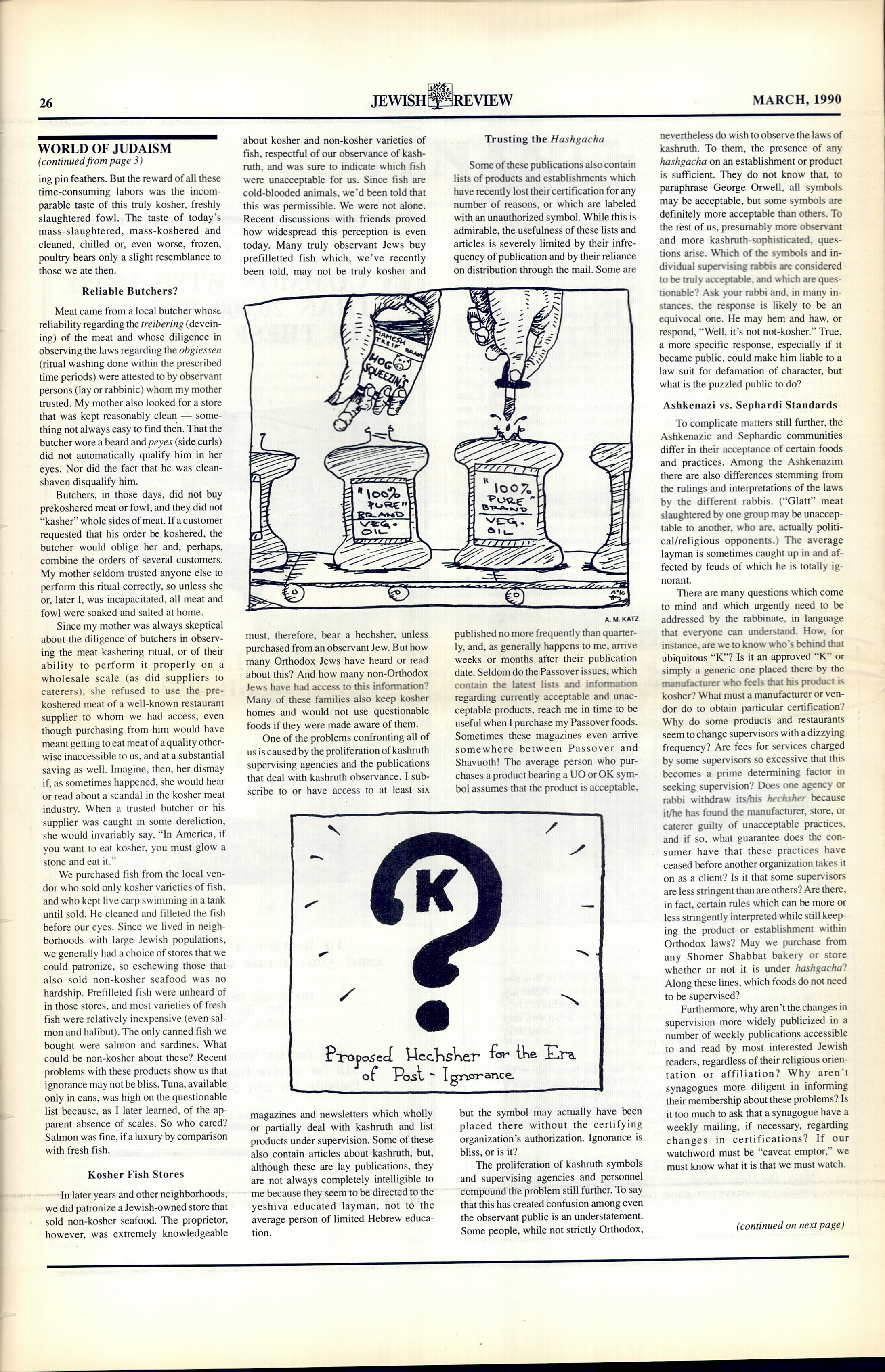 The Jewish Review: Issues